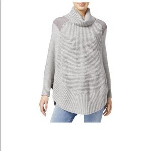 Maison Jules Faux Suede poncho sweater